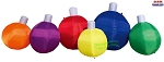 8' Air Blown Inflatable Row of Six Christmas Ornaments