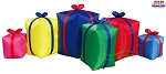 9' Air Blown Inflatable Row of Six Christmas Presents