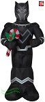 3 1/2' Gemmy Airblown Inflatable Black Panther w/ Candy Cane