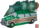 8' Gemmy Airblown Inflatable NLCV Christmas Vacation Station Wagon w/ Tree
