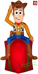 5 1/2' Gemmy Airblown Inflatable Toy Story Woody On Present