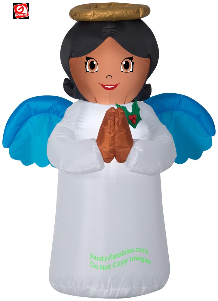 3 1/2' Gemmy Airblown Inflatable Christmas African American Angel