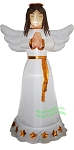 6' Air Blown Inflatable Mixed Media Christmas Angel