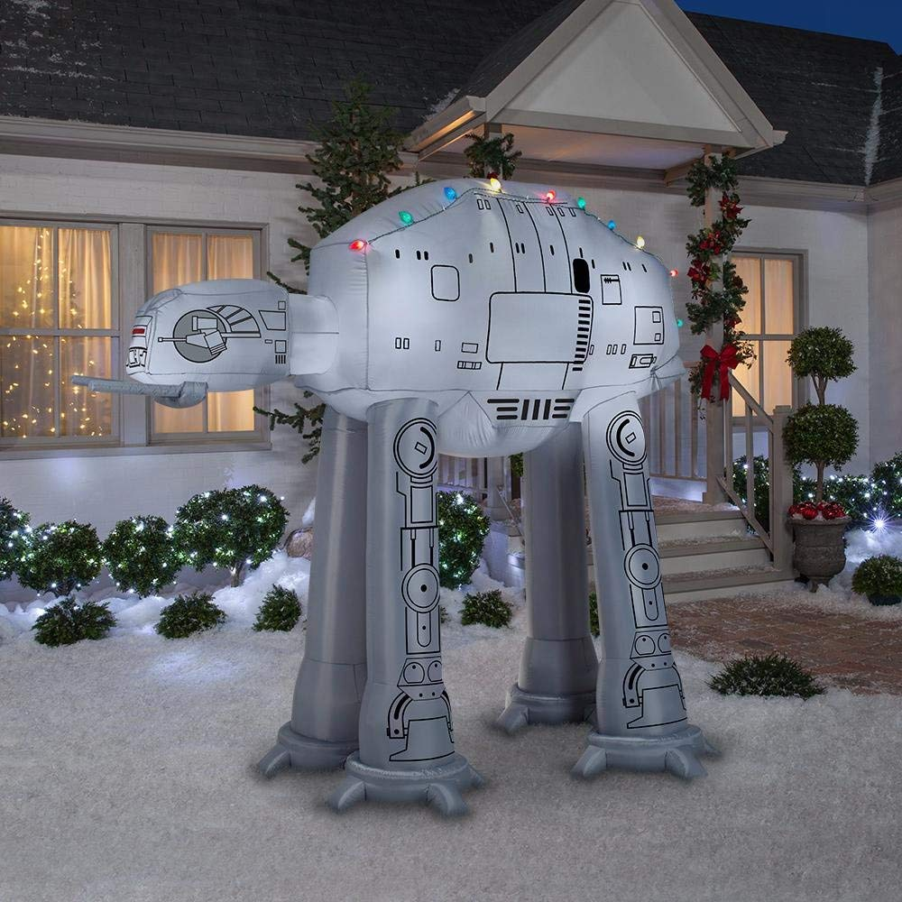9' Gemmy Airblown Inflatable Star Wars AT-AT Walker w/ Christmas Lights