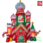 10 1/2' Gemmy  Airblown Inflatable Kaleidoscope Candy Castle