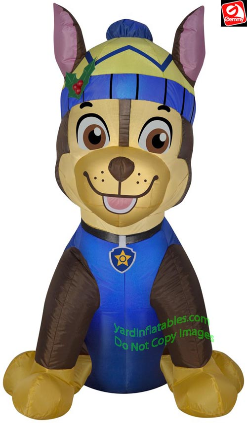 3' Gemmy Airblown Inflatable Paw Patrol Chase In Winter Gear