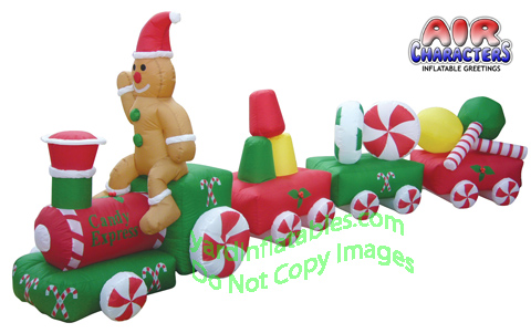 Christmas Candy Train.14 1 2 Air Blown Inflatable Candy Train