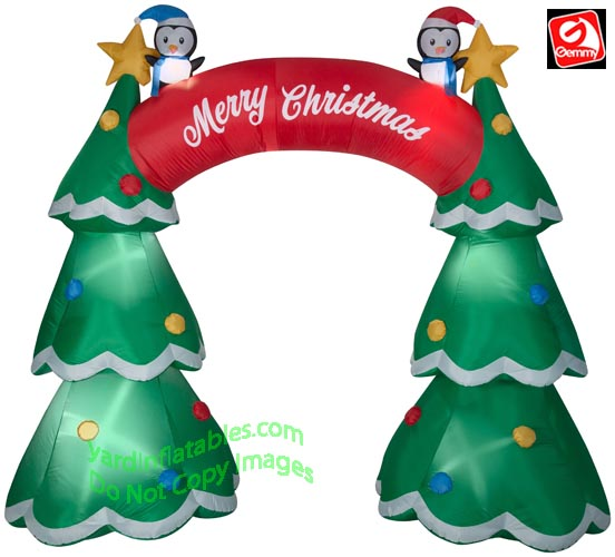 Inflatable Christmas Tree.12 Airblown Inflatable Christmas Tree Archway W Penguins