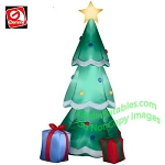6 1/2' Gemmy Airblown Inflatable Christmas Tree With Presents