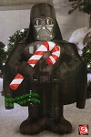 3 1/2' Star Wars Darth Vader Holding Candy Cane