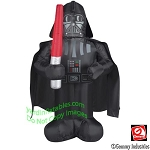3 1/2' Gemmy Airblown Inflatable Star Wars Darth Vader Holding Light Saber