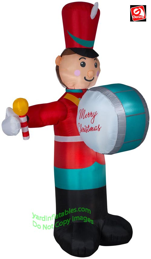 8' Gemmy Airblown Inflatable Animated Christmas Drumming Soldier