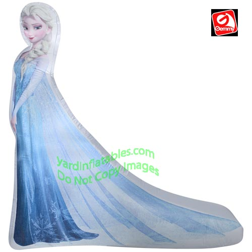 5' Gemmy Airblown Inflatable Photorealistic Elsa From Disney's Frozen