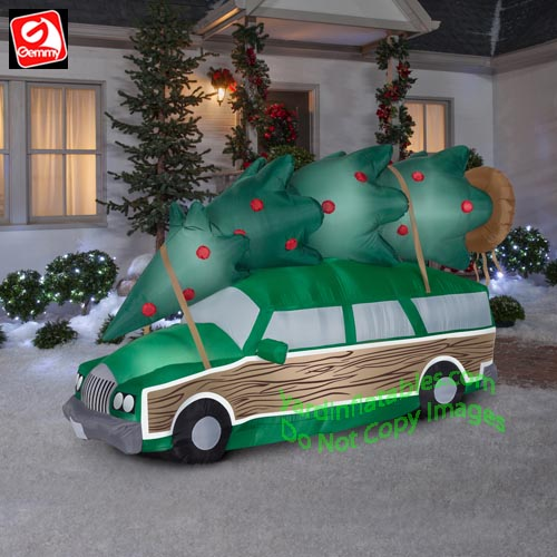 Griswold Christmas.8 Airblown Christmas Vacation Inflatable Griswold Station Wagon W Christmas Tree