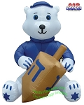 7' Air Blown Inflatable Hanukkah Bear Holding Dreidel