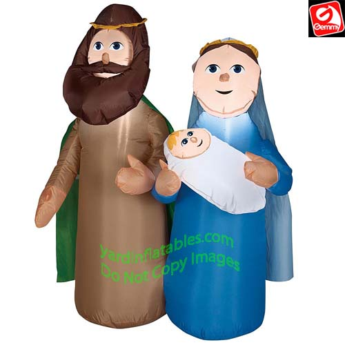 4' Gemmy Airblown Inflatable Holy Family