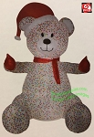 8 1/2' Animated Hugging Candy Sprinkles Bear w/ Santa Hat