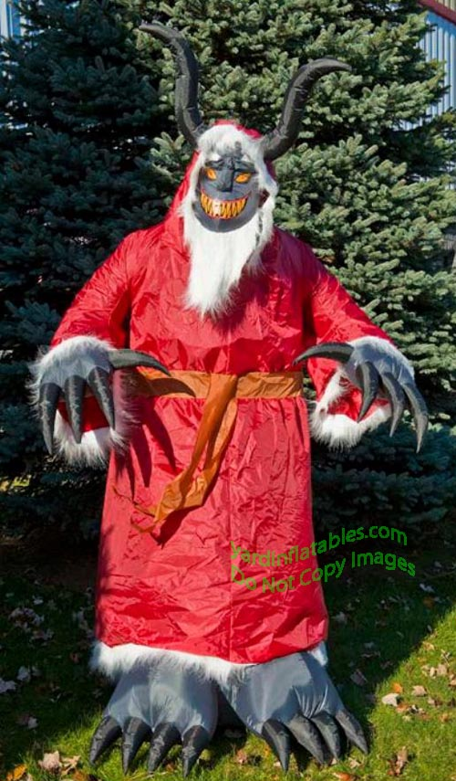 9 Air Blown Inflatable Animated Krampus Inflatable