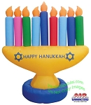 7' Air Blown Inflatable Hanukkah Menorah