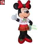 6' Minnie Mouse Christmas Party Outfit