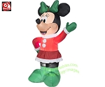 5 1/2' Gemmy Airblown Inflatable Minnie Mouse Wearing Winter Outfit