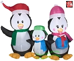 4' Penguin Family Scene