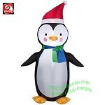 3 1/2'  Gemmy Airblown Inflatable Christmas Penguin Wearing Santa Hat