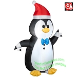 3 1/2' Gemmy Airblown Inflatable Christmas Penguin in Tuxedo