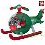 9' Animated Penguins in Helicopter Scene