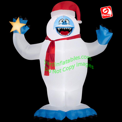 12' Gemmy Airblown Inflatable Christmas Bumble Abominable Snowman Holding Star