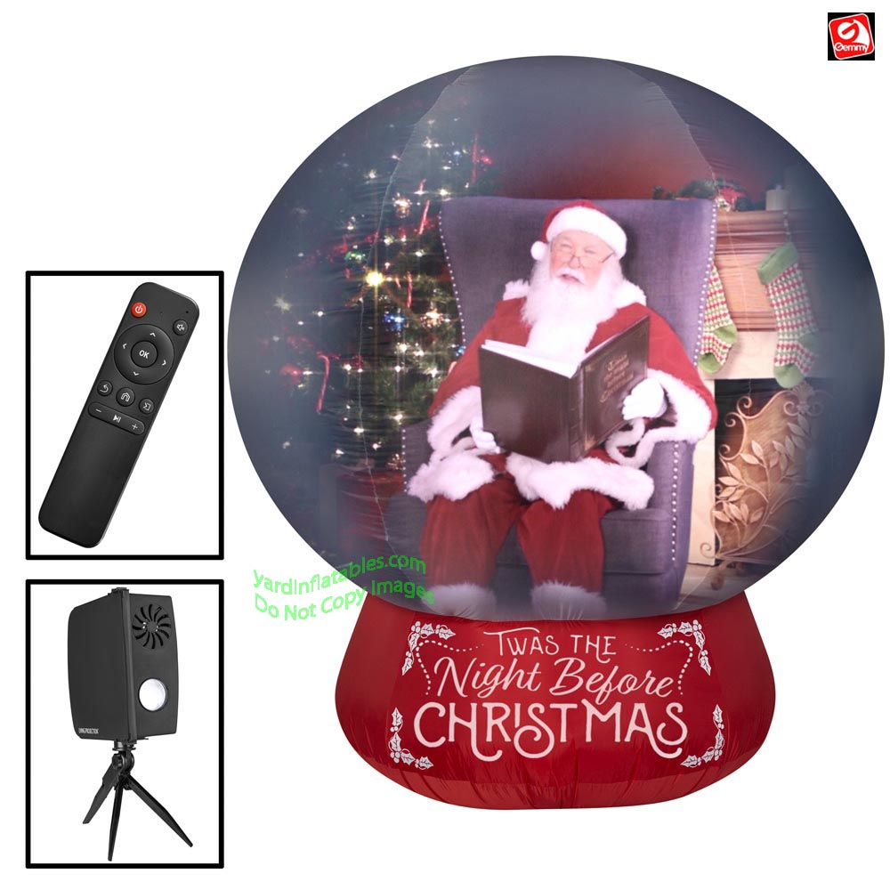 Gemmy Christmas Inflatables 2019.7 Airblown Inflatable Projection Deluxe Spherical Snow Globe