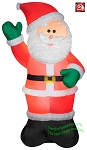 6' Gemmy Airblown inflatable Mixed Media Santa Claus