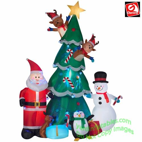Gemmy Christmas Inflatables 2019.9 1 2 Animated Christmas Tree Scene