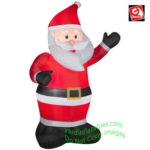 5' Gemmy Airblown Inflatable Santa Claus Waiving