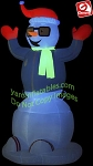 6' Gemmy Airblown Inflatable Animated NEON Dancing Snowman