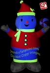 NEON Snowman Holding Peppermint