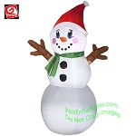 4' Gemmy Airblown Inflatable Snowman w/ Stick Arms