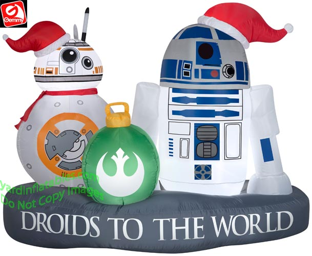 Gemmy Christmas Inflatables 2019.6 Airblown Inflatable Star Wars R2 D2 And Bb 8 Christmas Scene