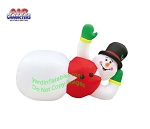 10' Air Blown Inflatable Lazy Lounging Snowman