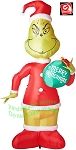11' Airblown Inflatable Giant Grinch Holding Merry Grinchmas Ornament
