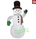 20' Airblown Inflatable Giant Snowman w/ Top Hat