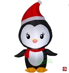4' Airblown Inflatable Christmas Penguin