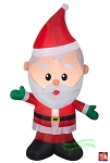 4' Airblown Inflatable Santa Claus waving Right Hand