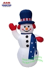6' Air Blown Inflatable Patriotic Snowman