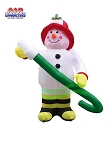 7' Air Blown Inflatable Fire Fighter Snowman w/ Hose