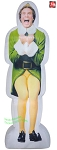 6' Gemmy Airblown Inflatable Photorealistic Excited Buddy The Elf