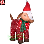 3 1/2' Gemmy Airblown Inflatable Christmas Goat in Pajamas