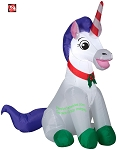 3 1/2' Gemmy Airblown Inflatable Christmas Unicorn