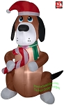6' Airblown Inflatable Nom Nom Christmas Dog