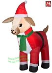3' Airblown Inflatable Goat in a Santa Suit